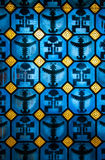 Pre-Columbian Figures. On blue glass Royalty Free Stock Images