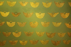 Pre Columbian golden jewellery Stock Image