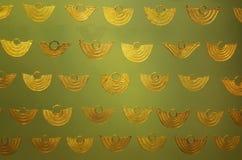 Pre Columbian golden jewellery. Displayed in the Bogota Gold Museum Stock Image