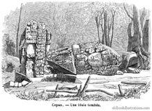 Pre-Columbian Idol, Copan Royalty Free Stock Photos