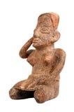 Pre Columbian idol sitting Royalty Free Stock Photos