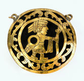 Pre Columbian Medallion. Royalty Free Stock Photo
