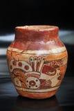 Pre-Columbian painted vase Stock Photo