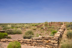 Pre-Columbian settlement. View across the  ruins of a pre-Columbian village, Puerco Pueblo, Petrified Forest National Park, Arizona Royalty Free Stock Photography