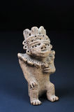 Pre-Columbian warrior. A pre-Columbian warrior statue from 100 BC Stock Photos