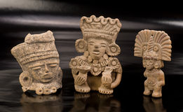 Pre Columbian Warriors. Royalty Free Stock Photos