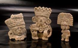 Pre Columbian Warriors. Three Pre Columbian warriors figures made around 600 AD Royalty Free Stock Photos