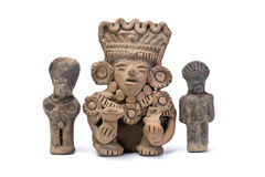 Pre Columbian Warriors. Royalty Free Stock Photo
