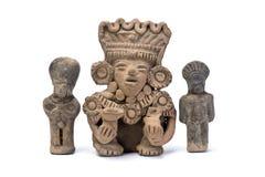 Pre Columbian Warriors. Pre Columbian warriors made around 600 AD Royalty Free Stock Photo