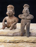 Pre Columbian Woman and Warrior. Pre Columbian Colima woman and warrior made around 200 BC Royalty Free Stock Photography
