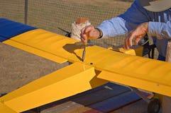 Pre controllo di volo Fotografia Stock