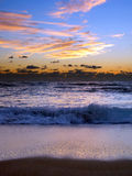 Pre-Dawn Breakers. Waves breaking off the Palm Beach coast before sunrise Royalty Free Stock Images