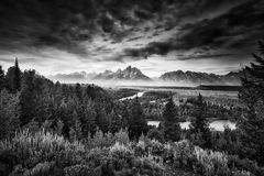 Pre-Dawn at Snake River Overlook Royalty Free Stock Photography