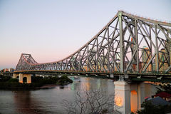 Pre Dawn Story Bridge Brisbane Australia Royalty Free Stock Images
