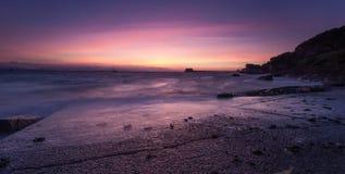 Pre-dawn at Swansea Bay Stock Image