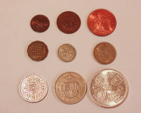 Pre-decimal GBP coins Royalty Free Stock Image