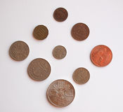 Pre-decimal GBP coins Stock Photos