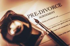 Pre Divorce Agreement Stock Photo
