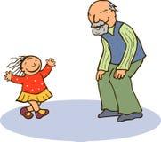 Père et petite-fille Image libre de droits