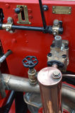 Pre 1960 fire truck water pump. Stock Images
