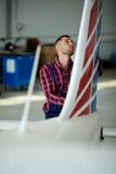 Pre Flight Maintenance Check Stock Photo