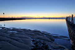 Pre-gryning på havpöl Fotografering för Bildbyråer