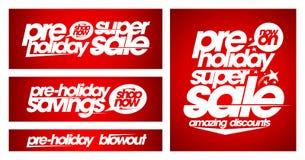 Pre het ontwerpconcept van de vakantie super verkoop Royalty-vrije Stock Foto's