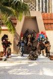 Pre-Hispanic Mayan performance. COSTA MAYA MEXICO JAN 30 2016:Pre-Hispanic Mayan performance called `Dance of the Owl` in Costa Maya Cruise ship Terminal & Stock Photo