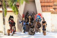 Pre-Hispanic Mayan performance royalty free stock photos