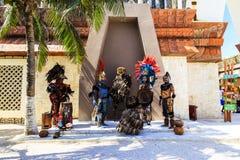 Pre-Hispanic Mayan performance. COSTA MAYA MEXICO JAN 30 2016:Pre-Hispanic Mayan performance called `Dance of the Owl` in Costa Maya Cruise ship Terminal & Stock Photography