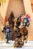 Pre-Hispanic Mayan performance. COSTA MAYA MEXICO JAN 30 2016:Pre-Hispanic Mayan performance called `Dance of the Owl` in Costa Maya Cruise ship Terminal & Royalty Free Stock Image