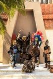 Pre-Hispanic Mayan performance Stock Photos