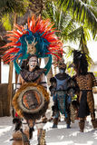 Pre-Hispanic Mayan performance Royalty Free Stock Image