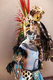 Pre-Hispanic Mayan performance. COSTA MAYA MEXICO JAN 30 2016:Pre-Hispanic Mayan performance called `Dance of the Owl` in Costa Maya Cruise ship Terminal & Royalty Free Stock Photos
