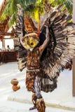 Pre-Hispanic Mayan performance. COSTA MAYA MEXICO JAN 30 2016:Pre-Hispanic Mayan performance called `Dance of the Owl` in Costa Maya Cruise ship Terminal & Stock Image
