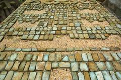 Pre-hispanic olmec stone mosaic in Mexico