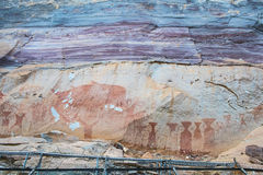 Pre-historical ancient painted by hand. Stock Photography