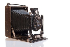 Pre historical photo camera Royalty Free Stock Photo