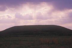 Pre-historiska Cahokia kullar, IL Arkivbild