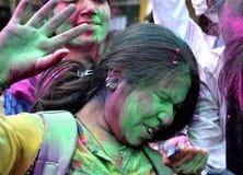 Pre Holi beröm i Bhopal Royaltyfri Fotografi
