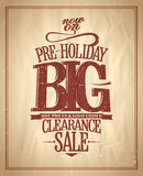 Pre-holiday big clearance sale. Stock Photos