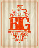 Pre-holiday big clearance sale. Royalty Free Stock Images