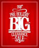 Pre-holiday sale design. Pre-holiday sale design template vector illustration