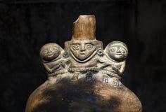 Pre inka ceramiczny nazwany «Huacos od Chancay Peruwiańskiej kultury fotografia royalty free