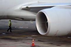 Pre inspección del vuelo Fotos de archivo libres de regalías