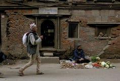 Pre jordskalv Katmandu Nepal royaltyfria foton