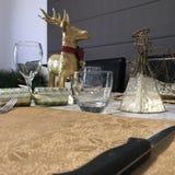 Pre-Kerstmisdiner stock foto
