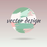 Pre-made Logo design, banner and watermark. Artistic brushes des. Pre-made Logo design, banner and watermark. Artistic brushes vector design in pastel colors Stock Photo