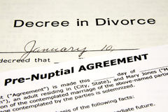 Pre-Nuptial with Divorce Royalty Free Stock Images