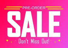 Free Pre-Order Sale, Poster Design Template, Limited Time Only, Vector Illustration Royalty Free Stock Image - 184018646